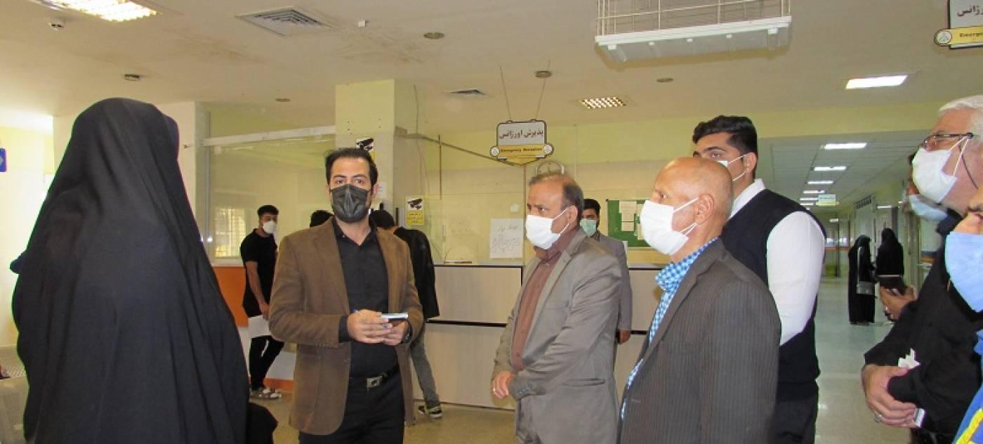 بازدید سرزده فرماندار از بیمارستان قائم (عج)