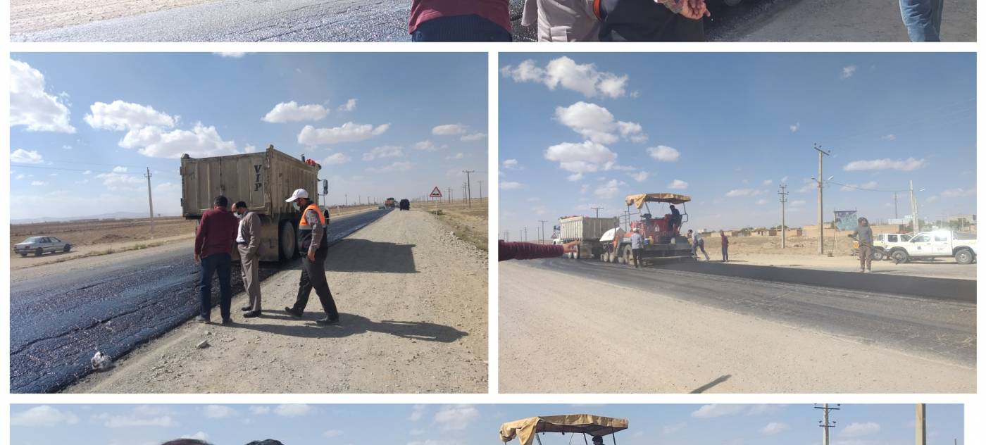 بازدیدمیدانی فرماندارکبودراهنگ از عملیات بازسازی و ترمیم جاده امیر آباد به سوباشی و گل تپه