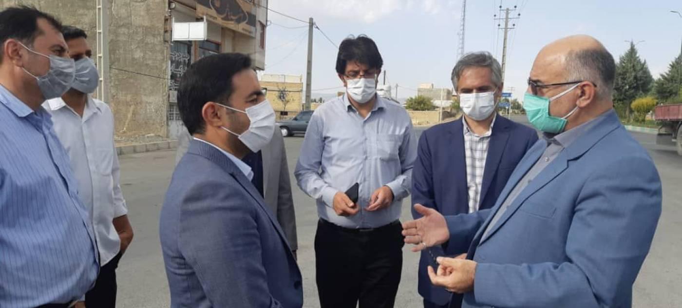 بازدید فرماندار ویژه ملایر از پروژههای شهرداری جوکار