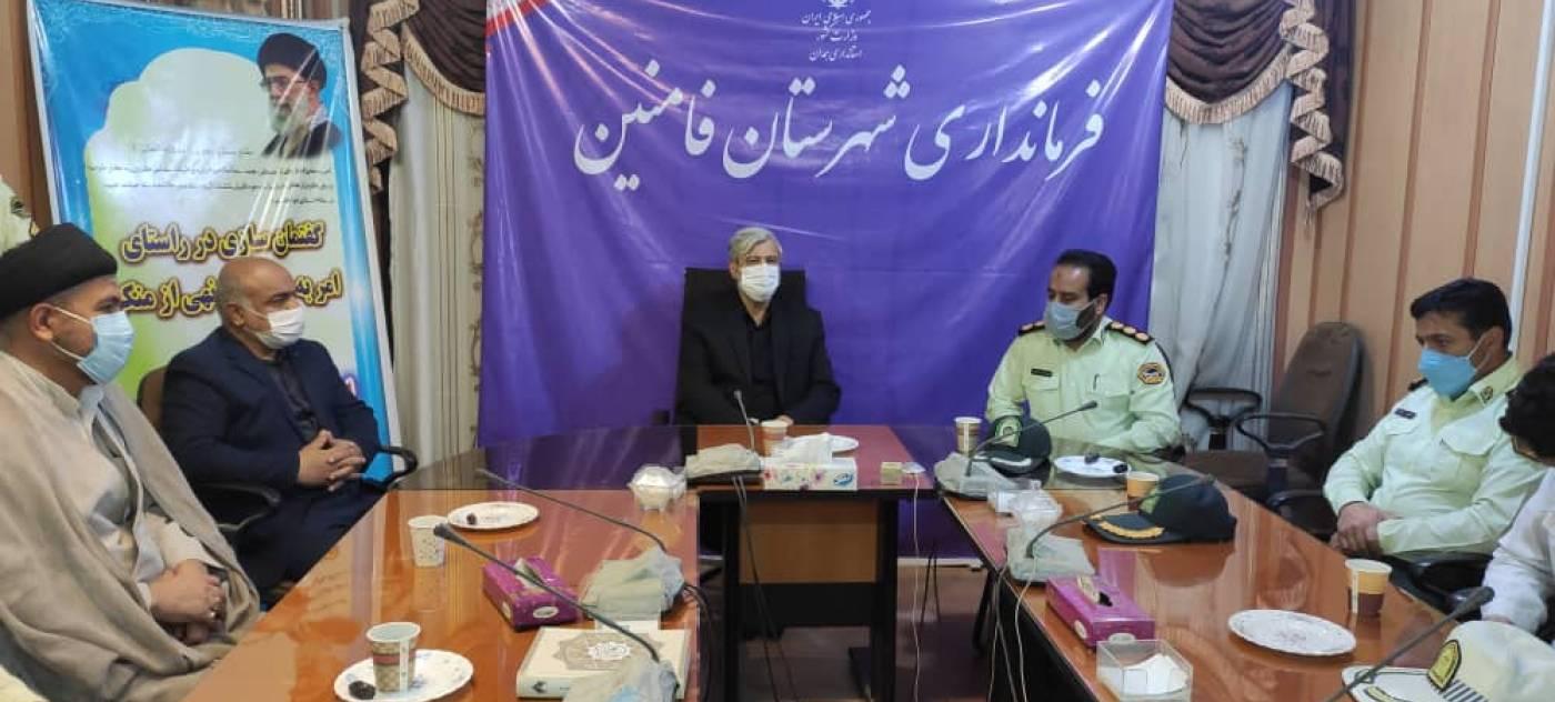 دیدار فرمانده وپرسنل انتظامی  با فرماندارشهرستان به مناسبت هفته ناجا