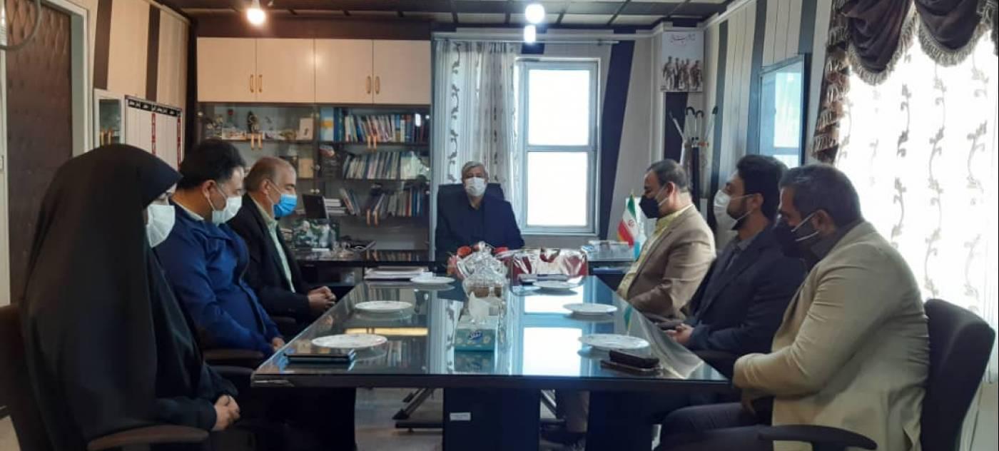 دیدار رئیس اداره ورزش وروسای هئیت های ورزشی با فرماندارشهرستان